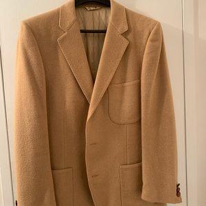 Vintage Oleg Cassini men's camel hair sport coat